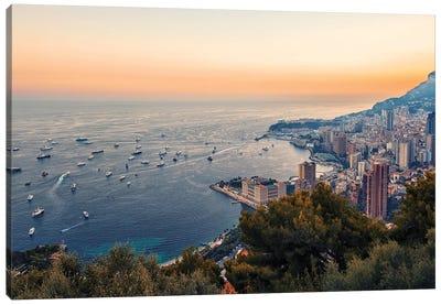 Monaco In The Summer Canvas Art Print