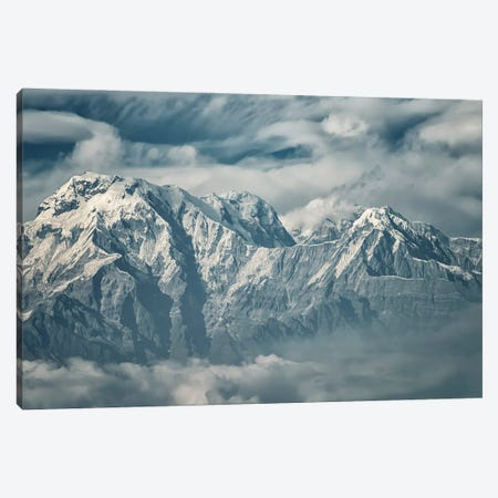 Annapurna Mountain Range Canvas Print #EMN563} by Manjik Pictures Canvas Print