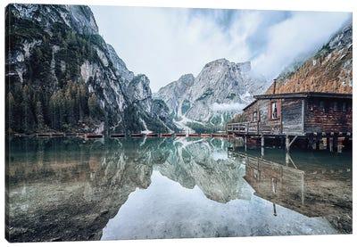 Dolomites Mountain Lake Canvas Art Print