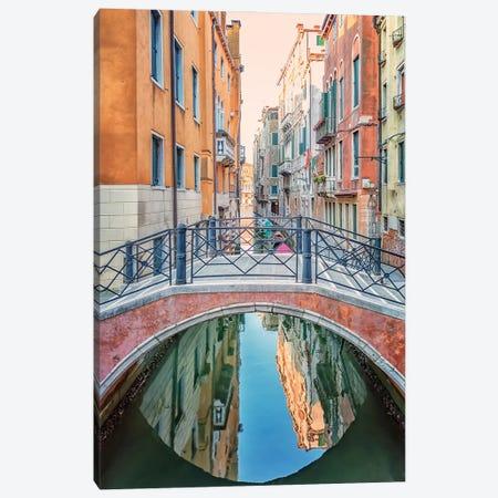 Venice Reflection Canvas Print #EMN592} by Manjik Pictures Canvas Artwork