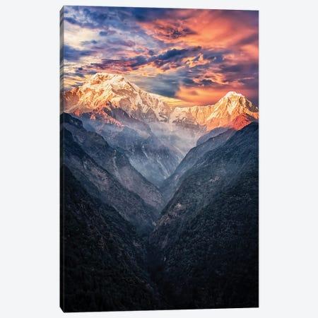 Annapurna Sunset Canvas Print #EMN598} by Manjik Pictures Canvas Artwork