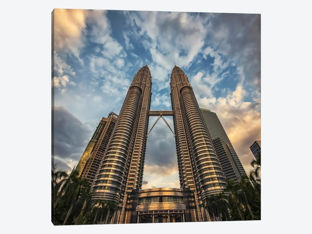 Twin Towers by Manjik Pictures 1-piece Art Print