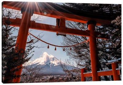 Shrine In Japan Canvas Art Print