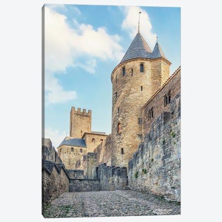 Carcassonne Rampart Canvas Print #EMN618} by Manjik Pictures Art Print