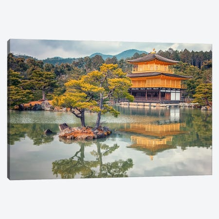 Golden Temple Canvas Print #EMN622} by Manjik Pictures Canvas Wall Art