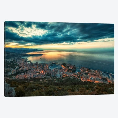 Early Morning In Monaco Canvas Print #EMN623} by Manjik Pictures Canvas Art