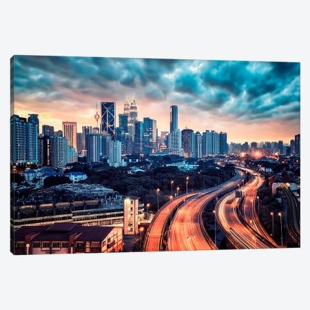 Kuala Lumpur City Canvas Print #EMN626} by Manjik Pictures Canvas Art Print