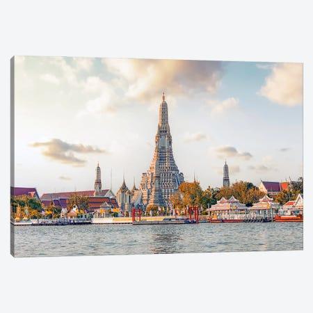 Wat Arun Temple Canvas Print #EMN632} by Manjik Pictures Canvas Art Print