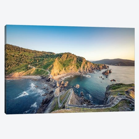 Basque Country Coastline Canvas Print #EMN636} by Manjik Pictures Canvas Wall Art