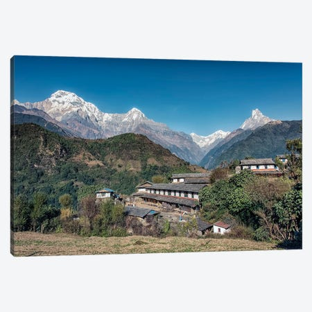 Ghandruk Village Canvas Print #EMN637} by Manjik Pictures Canvas Artwork