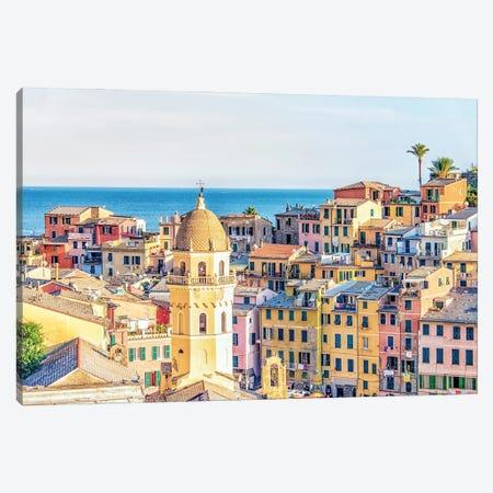 Vernazza Architecture Canvas Print #EMN639} by Manjik Pictures Art Print