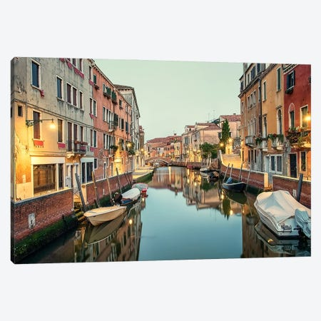 Morning Light In Venice Canvas Print #EMN649} by Manjik Pictures Canvas Wall Art