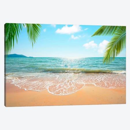 Beach Time Canvas Print #EMN653} by Manjik Pictures Canvas Art Print