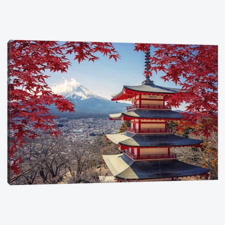 Japan In Fall Canvas Print #EMN655} by Manjik Pictures Canvas Artwork