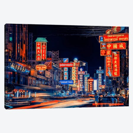 Dazzling City Canvas Print #EMN663} by Manjik Pictures Canvas Wall Art