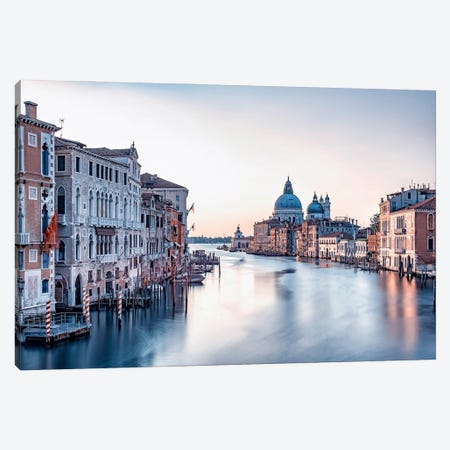 Early Morning In Venice Canvas Print #EMN667} by Manjik Pictures Art Print
