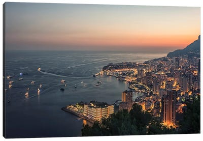 Monaco Evening Canvas Art Print