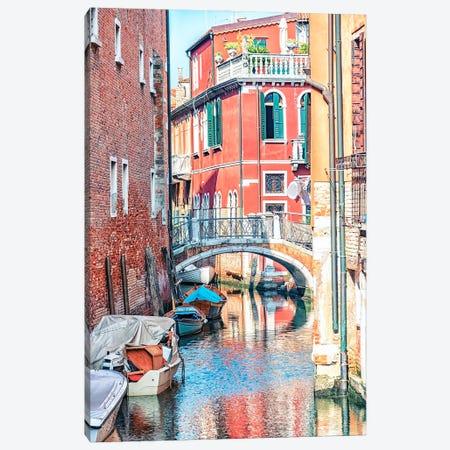 Venetian Canal Canvas Print #EMN687} by Manjik Pictures Art Print