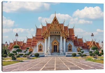 Marble Temple In Bangkok Canvas Art Print