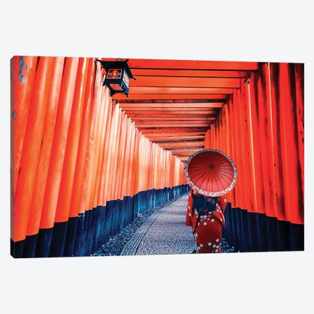 Life In Red Canvas Print #EMN69} by Manjik Pictures Canvas Wall Art