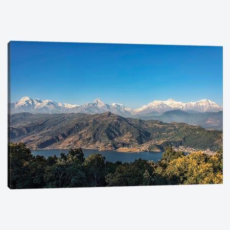 Pokhara Panorama Canvas Print #EMN724} by Manjik Pictures Canvas Artwork