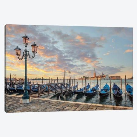 Sunrise In Venice Canvas Print #EMN727} by Manjik Pictures Canvas Artwork