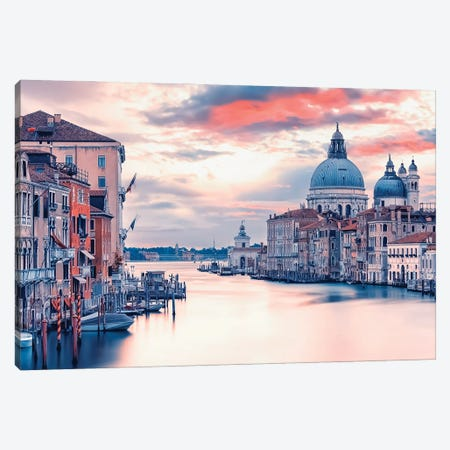 Grand Canal Sunrise Canvas Print #EMN754} by Manjik Pictures Canvas Print