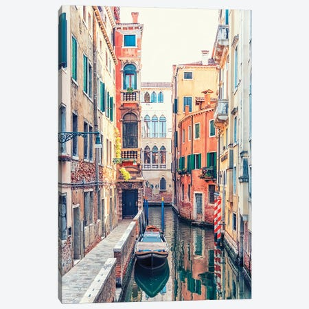 Canal In Venice Canvas Print #EMN755} by Manjik Pictures Canvas Print