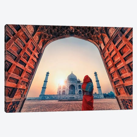 Morning In Agra Canvas Print #EMN77} by Manjik Pictures Canvas Wall Art