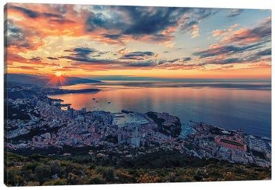 Monaco Sunrise Canvas Art Print