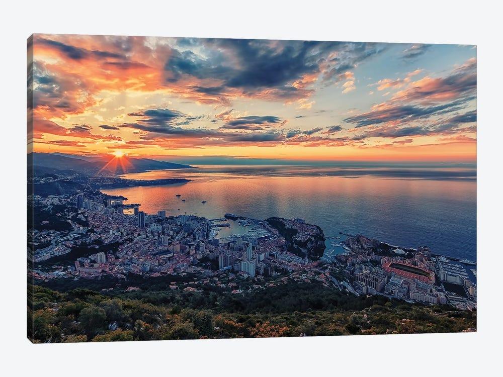 Monaco Sunrise by Manjik Pictures 1-piece Canvas Print