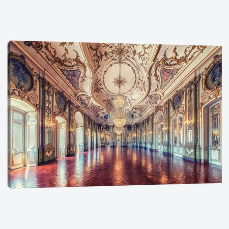 Palace Of Queluz Canvas Print #EMN83} by Manjik Pictures Canvas Art