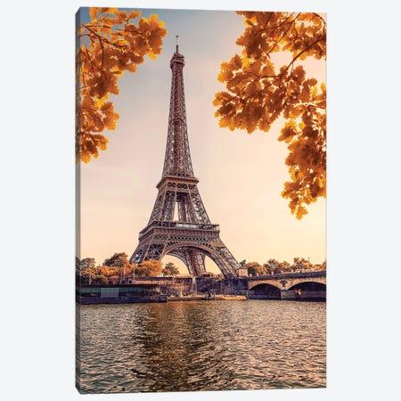 Paris In The Evening Canvas Print #EMN87} by Manjik Pictures Canvas Art Print
