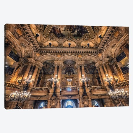 Opera House In Paris Canvas Print #EMN88} by Manjik Pictures Canvas Wall Art