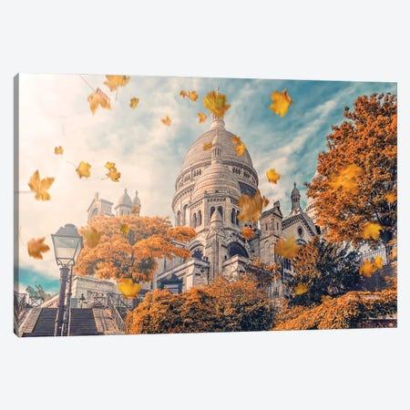 Autumn In Montmartre Canvas Print #EMN8} by Manjik Pictures Canvas Artwork