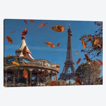 Romantic Paris Canvas Print #EMN93} by Manjik Pictures Art Print