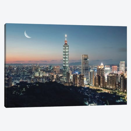 Romantic Taipei Canvas Print #EMN94} by Manjik Pictures Canvas Wall Art