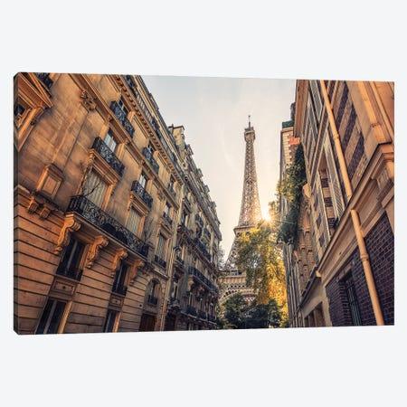 Sunlight In Paris Canvas Print #EMN98} by Manjik Pictures Canvas Print