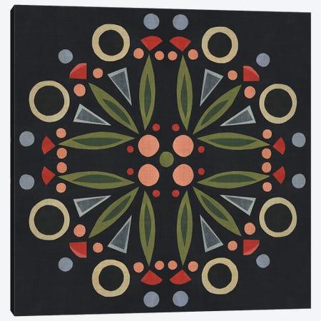 Folk Mandala I Canvas Print #EMS104} by Emma Scarvey Canvas Art