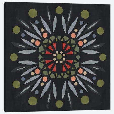 Folk Mandala II Canvas Print #EMS105} by Emma Scarvey Canvas Art