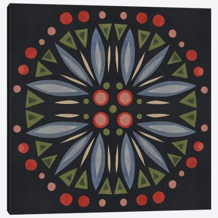 Folk Mandala III Canvas Print #EMS106} by Emma Scarvey Canvas Wall Art