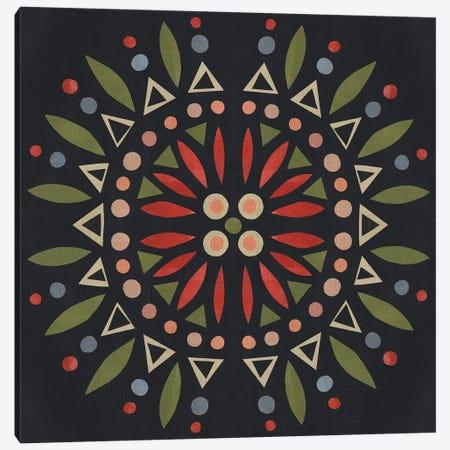Folk Mandala IV Canvas Print #EMS107} by Emma Scarvey Canvas Art