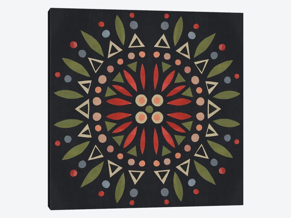 Folk Mandala IV by Emma Scarvey 1-piece Canvas Art