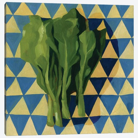 Geo Veggies I Canvas Print #EMS108} by Emma Scarvey Art Print