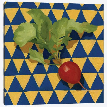 Geo Veggies II Canvas Print #EMS109} by Emma Scarvey Art Print