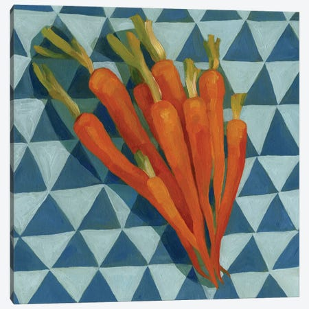 Geo Veggies III Canvas Print #EMS110} by Emma Scarvey Canvas Wall Art