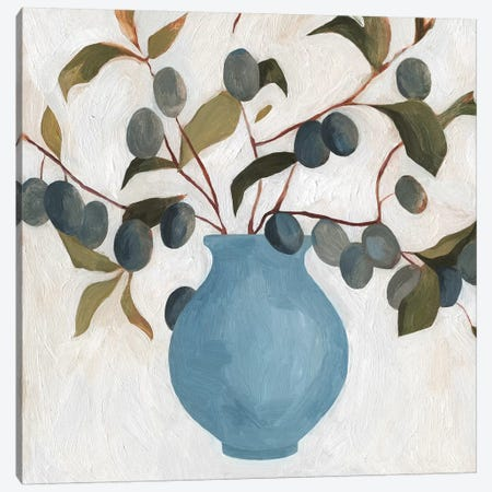 Plum Branch Arrangement II Canvas Print #EMS127} by Emma Scarvey Canvas Wall Art