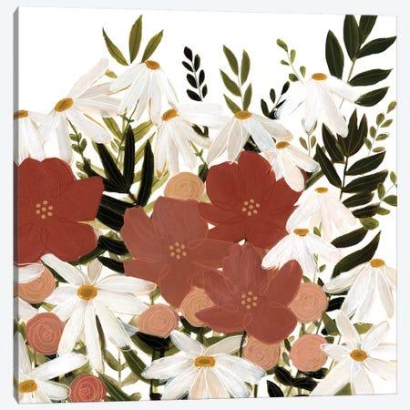 Terracotta Wildflowers I 3-Piece Canvas #EMS135} by Emma Scarvey Art Print