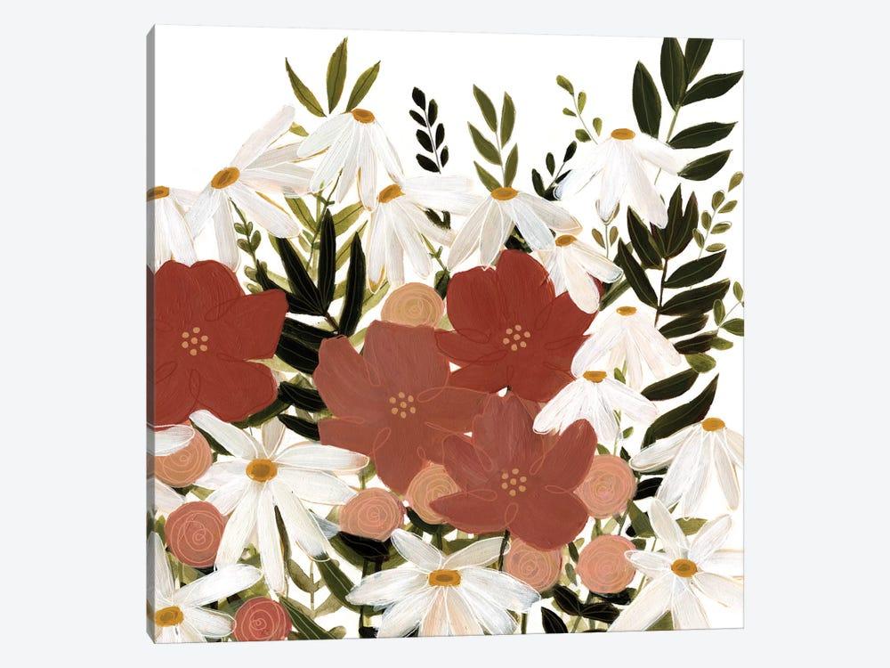 Terracotta Wildflowers I by Emma Scarvey 1-piece Canvas Print