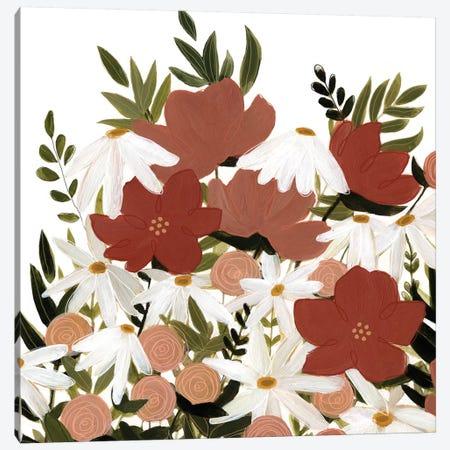 Terracotta Wildflowers II 3-Piece Canvas #EMS136} by Emma Scarvey Art Print